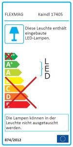 FLEXMAG by Kaindl LED-Lupenleuchte Energieeffizienzlabel