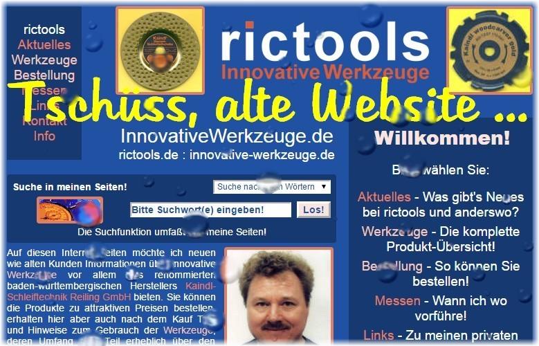 Tschüss alte Website ...